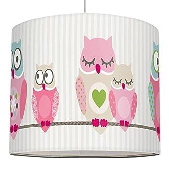anna wand Lampenschirm SUMMER OWLS GIRLS – Schirm für Kinder ...