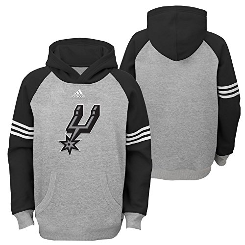 NBA Youth 8-20 San Antonio Spurs Robust Pullover Hoodie-Heather Grey-L(14-16)