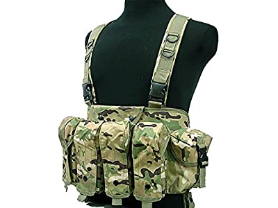 Tactical AK Chest Rig Combat Vest Magazine Pouch Airsoft Paintball Military CP