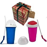 Slushy Maker Ice Cup for Instant Yummy Smoothies & Milkshakes - Worshopping Perfectly Gift Wrapped- Hygienic & BPA Free…