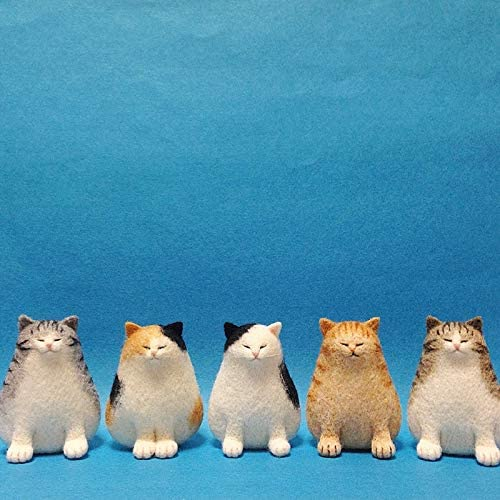 Decotcute Wool Felting Kit Felted Wool Fabric Non-Finished DIY Accessories Felt Poke Handmade Needle Wool Felt Kits Material Package Cat Kitty Animal Poked Doll Feltings