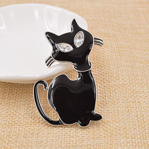 RHINE-VBRACH Enamel Cat Brooches Gothic Brooches Bijouterie Broches Animal Brooches Jewelry