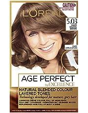 L'Oréal Paris Excellence Age Perfect Permananent Hair Colour - 5.03 Warm Golden Brown (Natural Blended Colour)