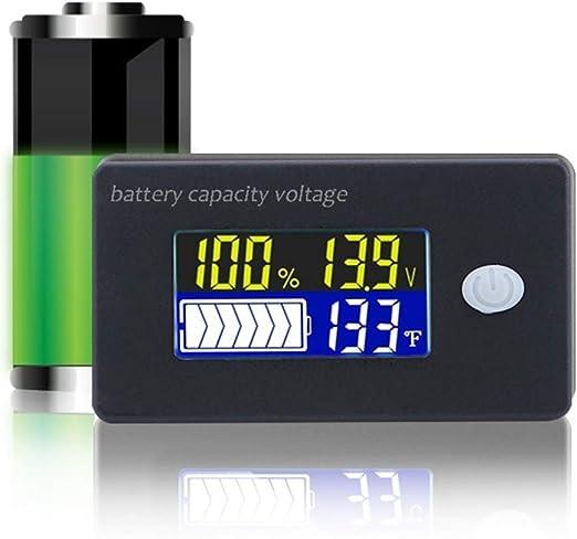 Digital LCD Battery Capacity Tester Monitor Lithium Battery Capacity Tester Voltage Meter LCD Lead Acid Battery Capacity Meter Voltmeter DC 8-65V Waterproof 12V//24V//36V//48V for Vehicle Battery