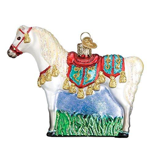 Arabian Horse Glass Blown Hanging Christmas Ornament