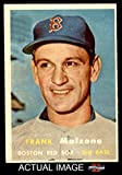 1957 Topps # 355 Frank Malzone Boston Red Sox (Baseball Card) Dean's Cards 5 - EX Red Sox