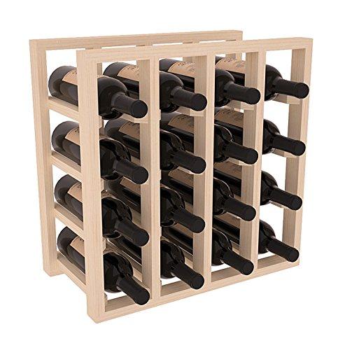 (Wine Racks America Ponderosa Pine Lattice Stacking 16 Bottle Cubicle. Unstained)