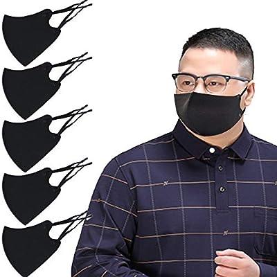 大きなマスク 大きいサイズ 2Lサイズ 洗える 夏用マスク スポーツマスク おしゃれなマスク 息がしやすい 蒸れない 冷感マスク UVカット ひんやりサラサラ 接触冷感 クールマスク 耳紐調整付き 2枚重ねマスク用にも 5枚入り 高性能5層フィルター2枚付き