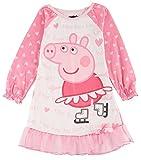 Komar Kids Little Girls' Peppa Pig Long Sleeve Skating Gown, Pink, 4T