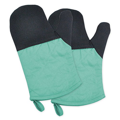 DII 100% Cotton, Machine Washable, 425°F Heat Resistant, Everyday Kitchen Basic, Neoprene Oven Mitt, 6 x 11