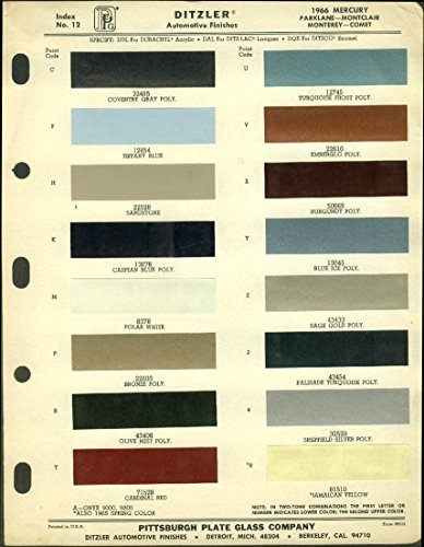 ditzler-automotive-finishes-color-chip-chart-1966-mercury-comet
