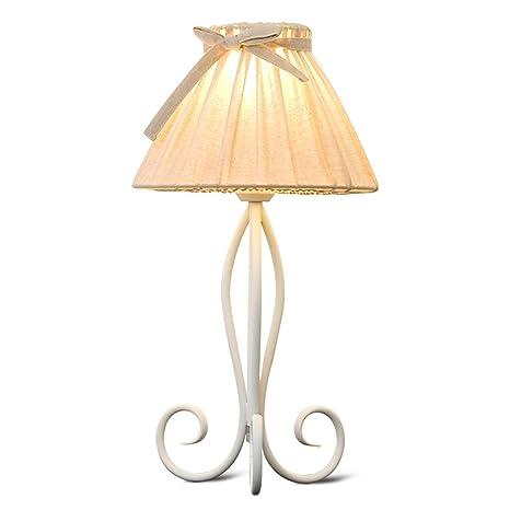 Lampe de bureau Creative Warm Girl Bowknot Beige Coton Tissu ...