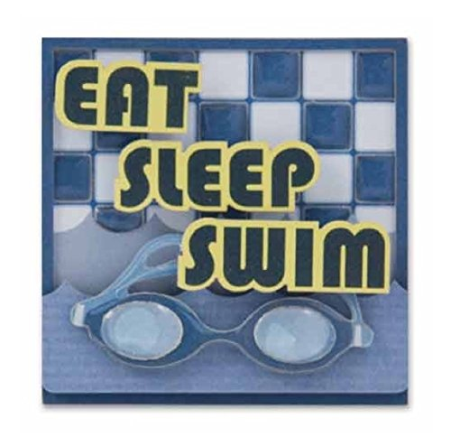 Karen Foster Design 6-Count Lil' Stacks, Swim