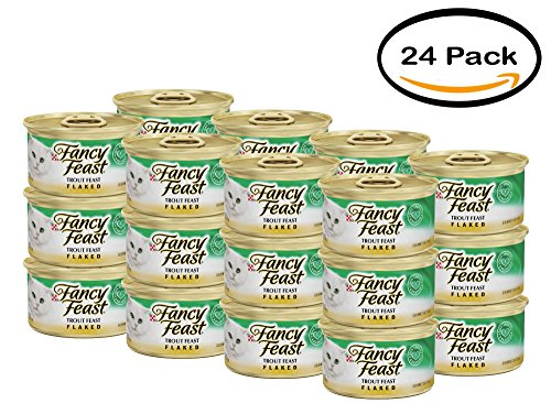 PACK OF 24 - Purina Fancy Feast Flaked Trout Feast Cat Food 3 oz. Can