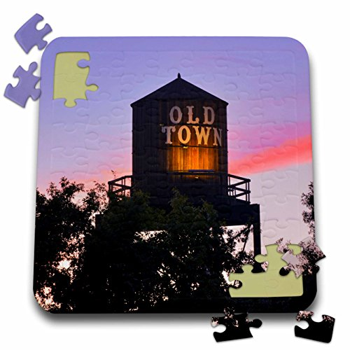 egon - USA, Oregon, Portland. Old Town water tower at sunset. - 10x10 Inch Puzzle (pzl_279311_2) (Historic Water Tower)