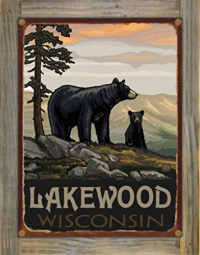 Lakewood Wisconsin Rustic Metal Print on Reclaimed Barn Wood by Paul A. Lanquist (9
