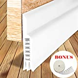 LPPROFE Energy Efficient Door Under Seal Strip Bottom Weatherstripping Noise Blocker Soundproof Adhesive 2'' Width x 40'' Length White