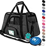 PetAmi Premium Airline Approved Soft-Sided Pet Travel Carrier | Ventilated, Comfortable Design with Safety Features | Ideal for Small to Medium Sized Cats, Dogs, and Pets (Large, Charcoal)