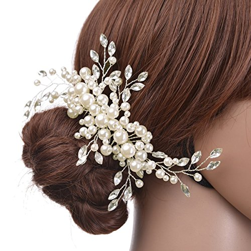 Bridal Hair Comb-Ivory Pearl Wedding Hair Jewelry,Wedding Hair Accessories for Brides