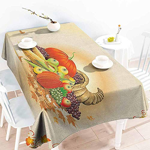 Willsd Small Rectangular Tablecloth,Harvest Maple Tree Frame with