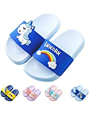 Kids Unicorn Slide Sandals Non-Slip Summer Beach Water Shoes Boys Girls Shower Pool Slippers(Toddler/Little Kids)