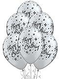 Ballons anniversaire argent (x6)