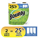 Bounty Select-A-Size Paper Towels, White, 2 Large Rolls