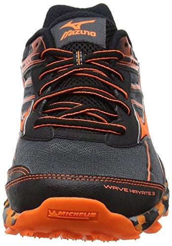 Black para Zapatillas Trail Mizuno 3 Black Dark Clownfish Hayate Wave running hombre de Shadow qtOwxtrp