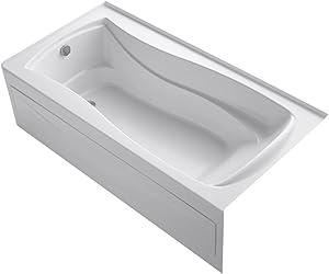 KOHLER K-1259-LA-0 Mariposa Bathtub, 60 Or More Gallons, White