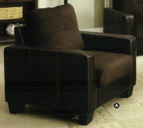Furniture of America CM6598DK-C Laverne Chocolate Chair Accent Tables, 35'' H by Furniture of America