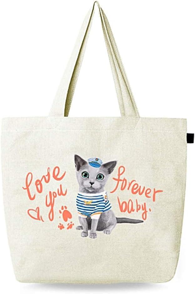 Bolsa de lona con impresión de garra para gatos, bolsa de mano reutilizable, bolsa de lona de algodón para manualidades, bolsas de regalo, adorable bolsa grande para la playa, envío, compras, libros: