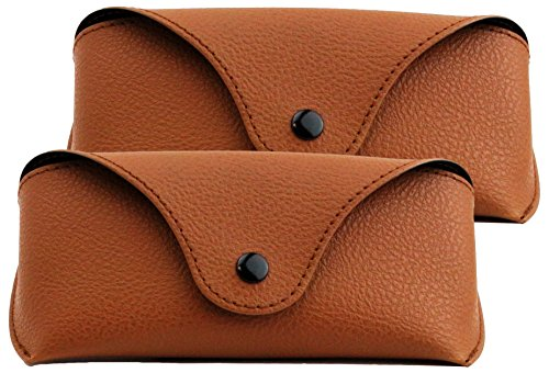 (Eye-Max Sunglasses Case, Brown, 2 pack)