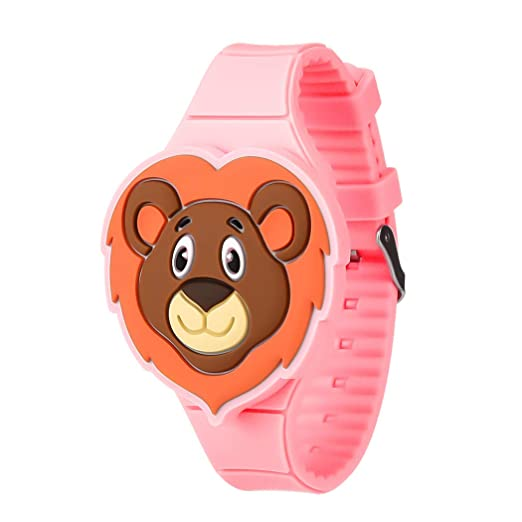 Reloj Infantil Digital Niño,Reloj Infantil con Tira De Silicona Y Dibujos Animados De Silicona para Niños Y Niñas (Rojo): Amazon.es: Relojes