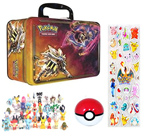 One Pokemon Sticker (Pokemon Lunch Box Container Feat. Solgaleo Lunala GX + Mini Figure, Pokeball & Stickers)