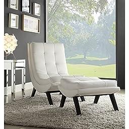 Ave Six  TSN51-W32 Tustin Lounge Chair and Ottoman Set