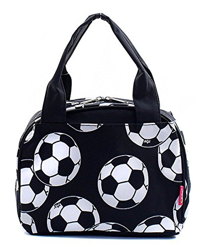 Soccer Print Insulated Small Lunch Tote Bag (Wholesale Coach Inspired Handbags)