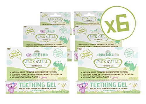Jack N' Jill Natural Teething Gel 15g/0.53oz (6 Pack)