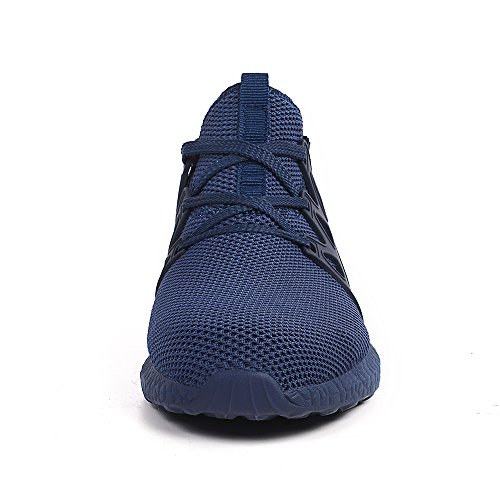 458a0b877 ... 9.5 ZOCAVIA Men's Casual Sneakers Ultra Lightweight Breathable Mesh  Sport Walking Running Shoes, Blue, ...