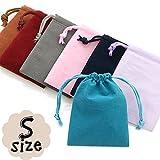 選べる8種類ポーチ|アクセサリーや小物入れに |小サイズ 8色 高級感たっぷりのベロア巾着袋|1枚売り| 10P20Sep14 Purple