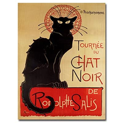 Trademark Art Tournee Du Chat NIR Canvas Art by Theophile A Steinlen - Canvas Art, Ready to Hang Canvas Gallery Wrapped Around Hidden Wooden Frame 14x19-inch - wall-art, living-room-decor, living-room - 51zjmZQWruL. SS400  -