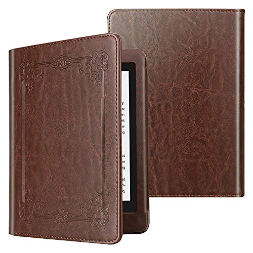 Fintie Folio Case for All-New Kindle Paperwhite (10th Generation, 2018 Release) - Book Style Vegan Leather Shockproof Cover with Auto Sleep/Wake for Amazon Kindle Paperwhite E-Reader, Vin-Brown
