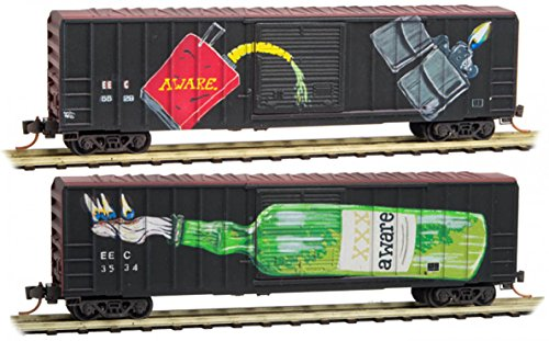 Micro-Trains MTL N-Scale 50ft. Box Cars ECC - Aware for sale  Delivered anywhere in USA