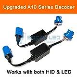 SOCAL-LED 2x A10 HB5 9007 EMC Headlight Kit CANBUS HID LED Decoder Anti-Flicker Error Canceller Relay Resistor Adapter