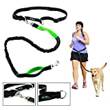 Hands Free Dog Leash for Runners-Best Jog Leash for Running Hiking Walking Jogging-Extendible Retractable Reflective Hands Free Leash-eBook included by Clickgofit.