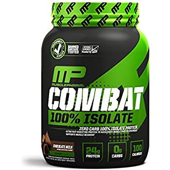 MusclePharm 100% Whey Isolate, Pure Isolate Protein Powder with 0 Carbs, Chocolate Milk, 24 Grams of Protein Per Serving, Whey Isolate Protein, ...