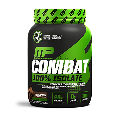 MusclePharm 100% Whey Isolate, Pure Isolate Protein Powder with 0 Carbs, Chocolate Milk, 24 Grams of Protein Per Serving, Whey Isolate Protein, Quality Protein Powder, 2-Pounds, 33 ()