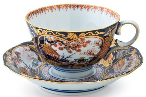 Old Imari Rinpa 3.9inch Coffe Cup & Saucer (Imari Coffee Saucer)