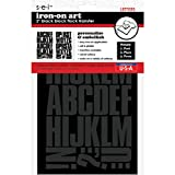 S·E·I SEI Block Letter Transfers 2' 2 Sheets/Pkg, Black