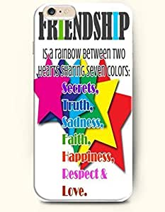 iPhone Case, SevenArc iPhone 6 (4.7) Hard Case **NEW** Case with the Design of Friendship is a rainbow between two...
