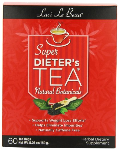 - Laci Le Beau Super Dieter's Tea, All Natural Botanicals, 60 Count Box (Pack of 2)